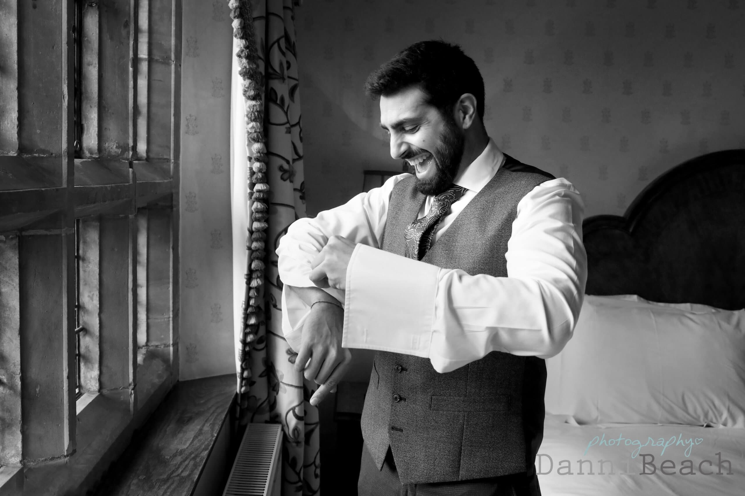 Hever Castle wedding Groom