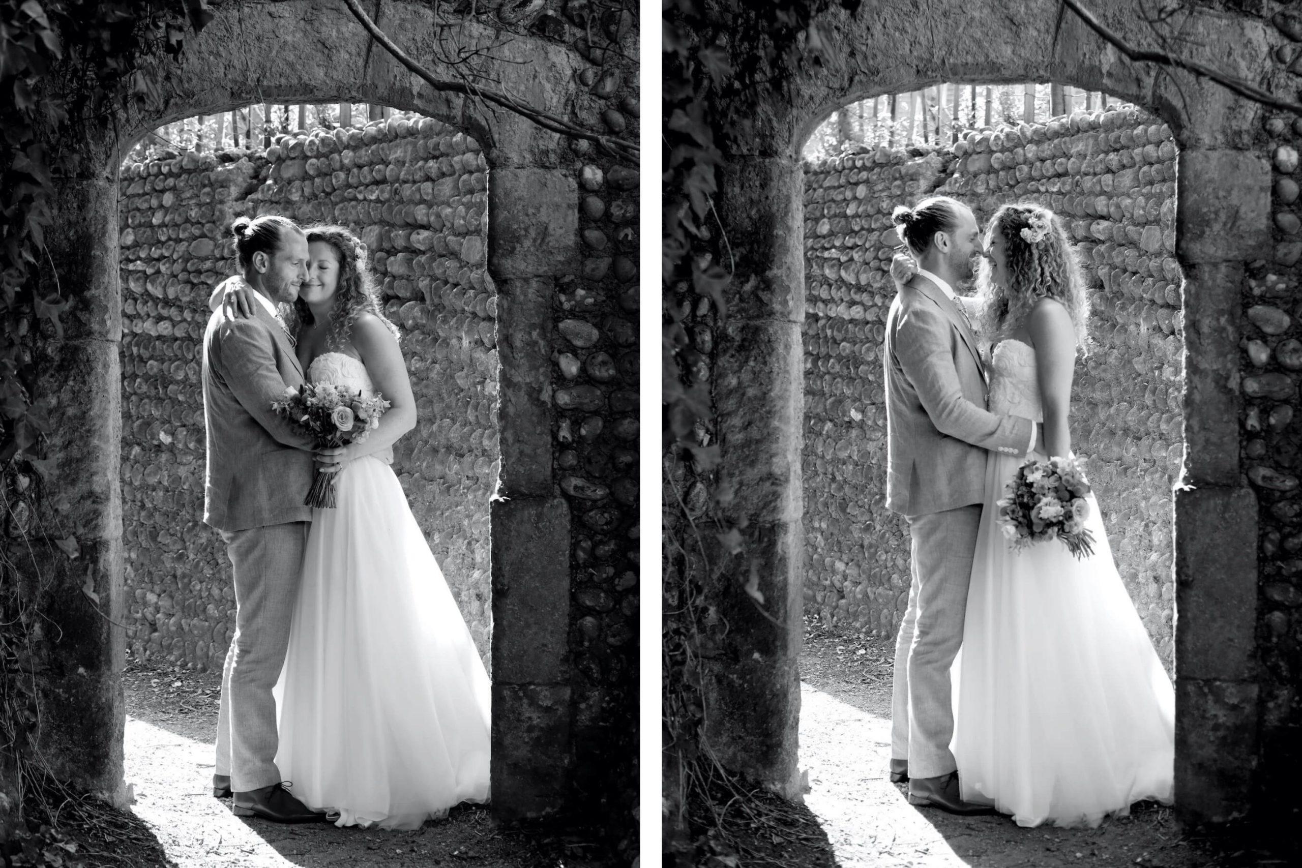 Black and white Gildredge Manor wedding photography