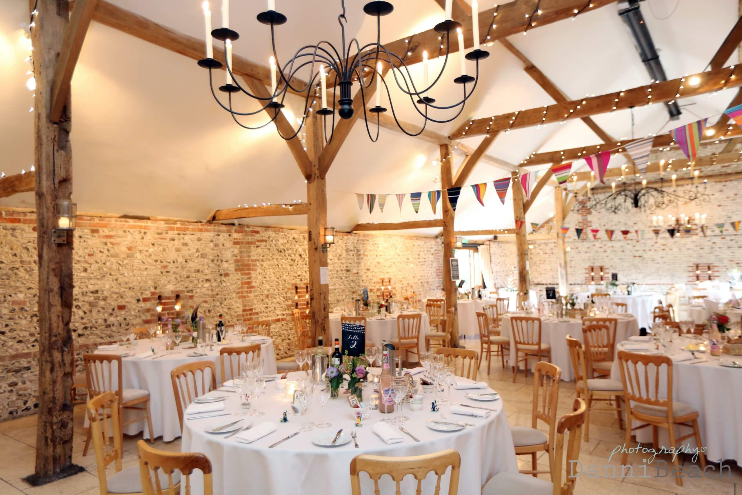 Upwaltham barn wedding breakfast