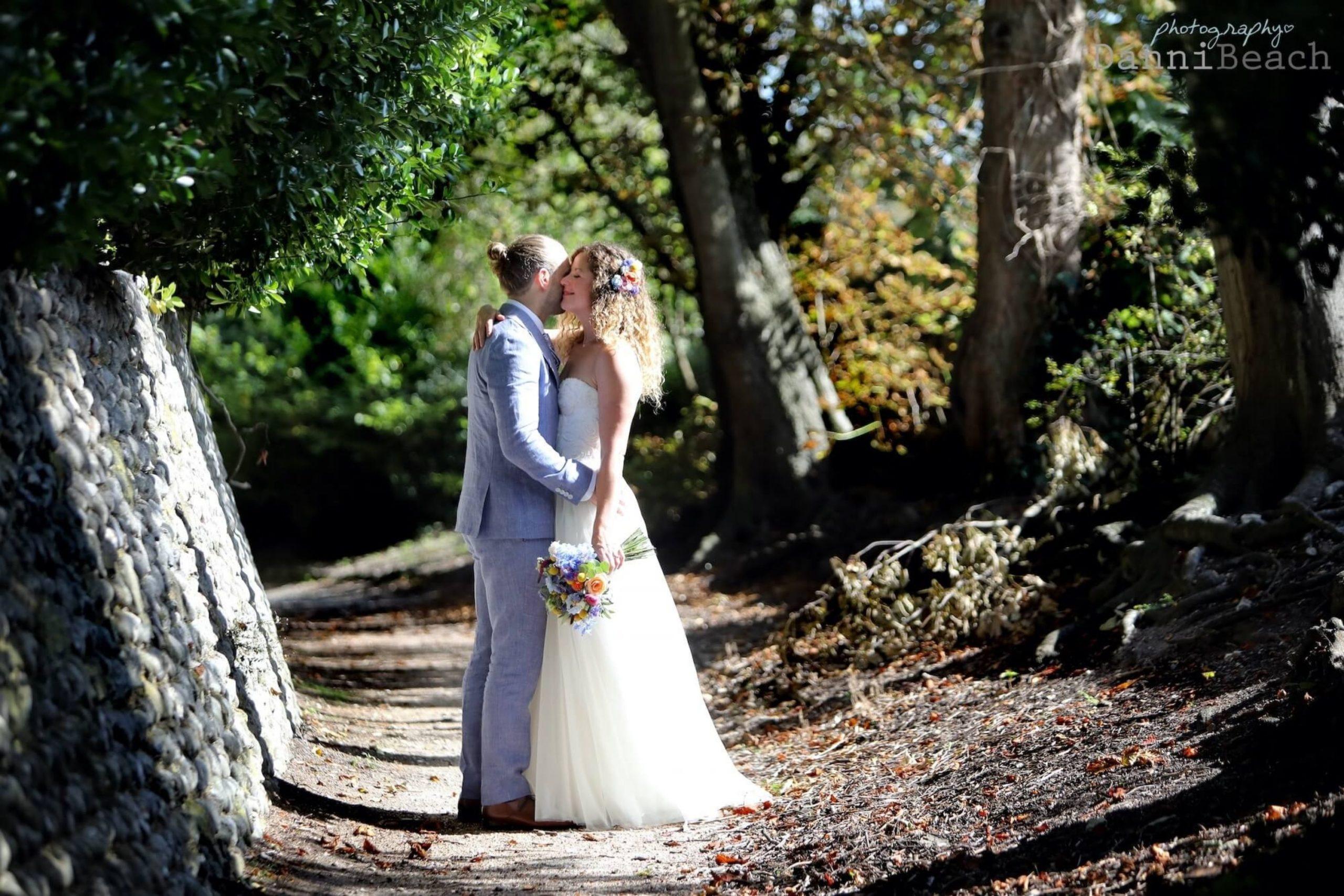 Gildredge Manor wedding couple