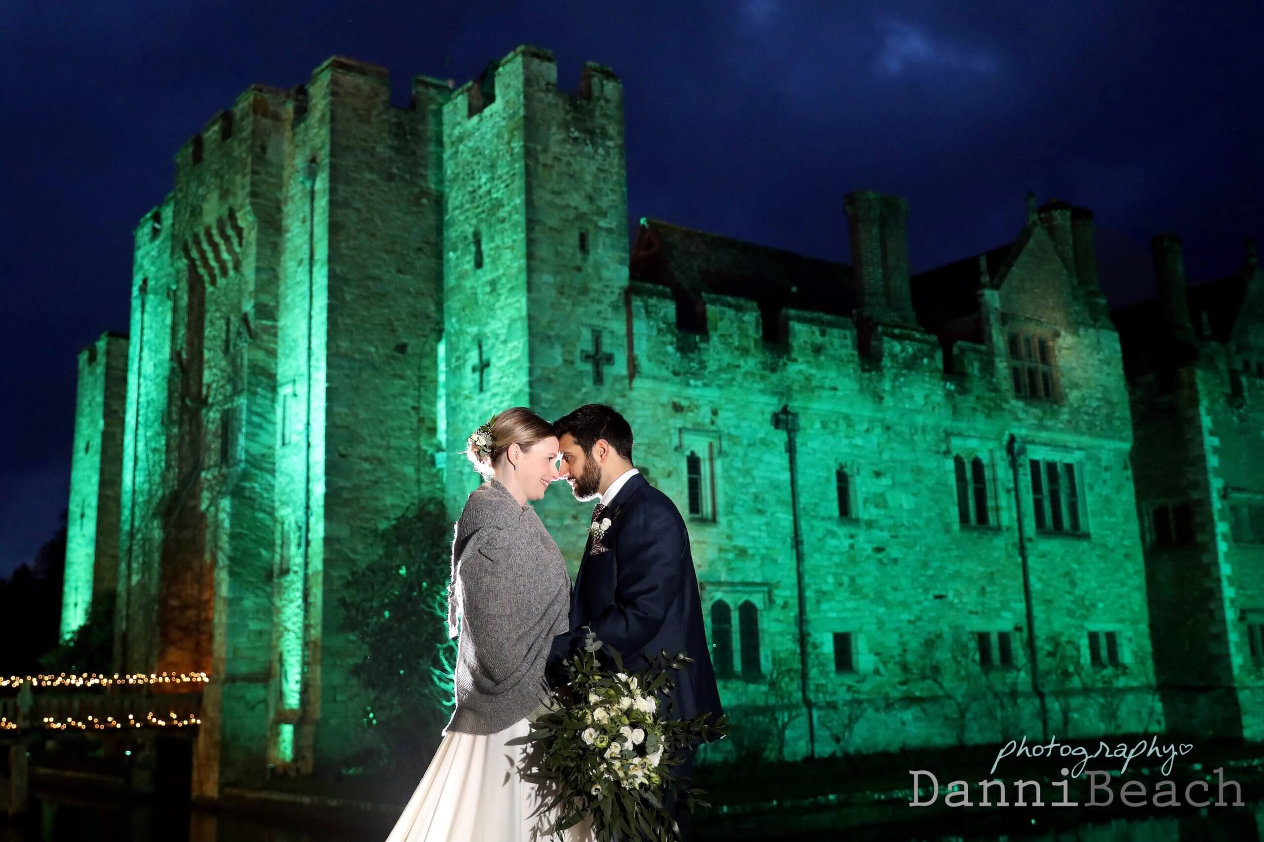 2020 christmas lights Hever Castle wedding