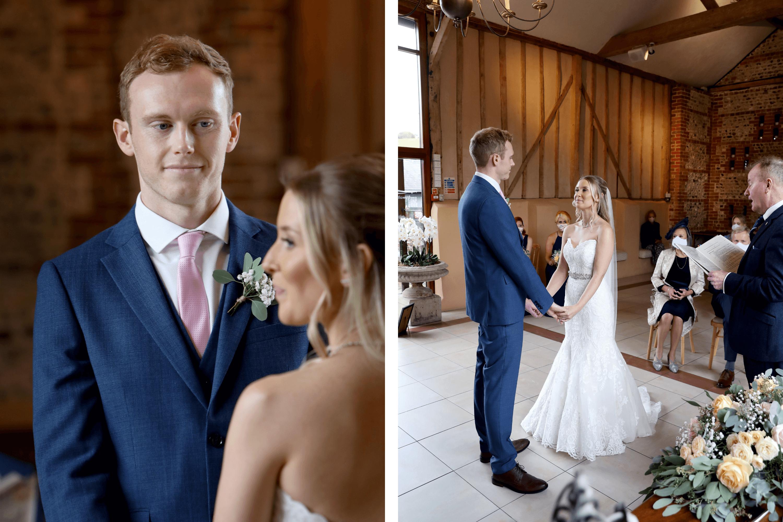 Micro wedding at Upwaltham Barns