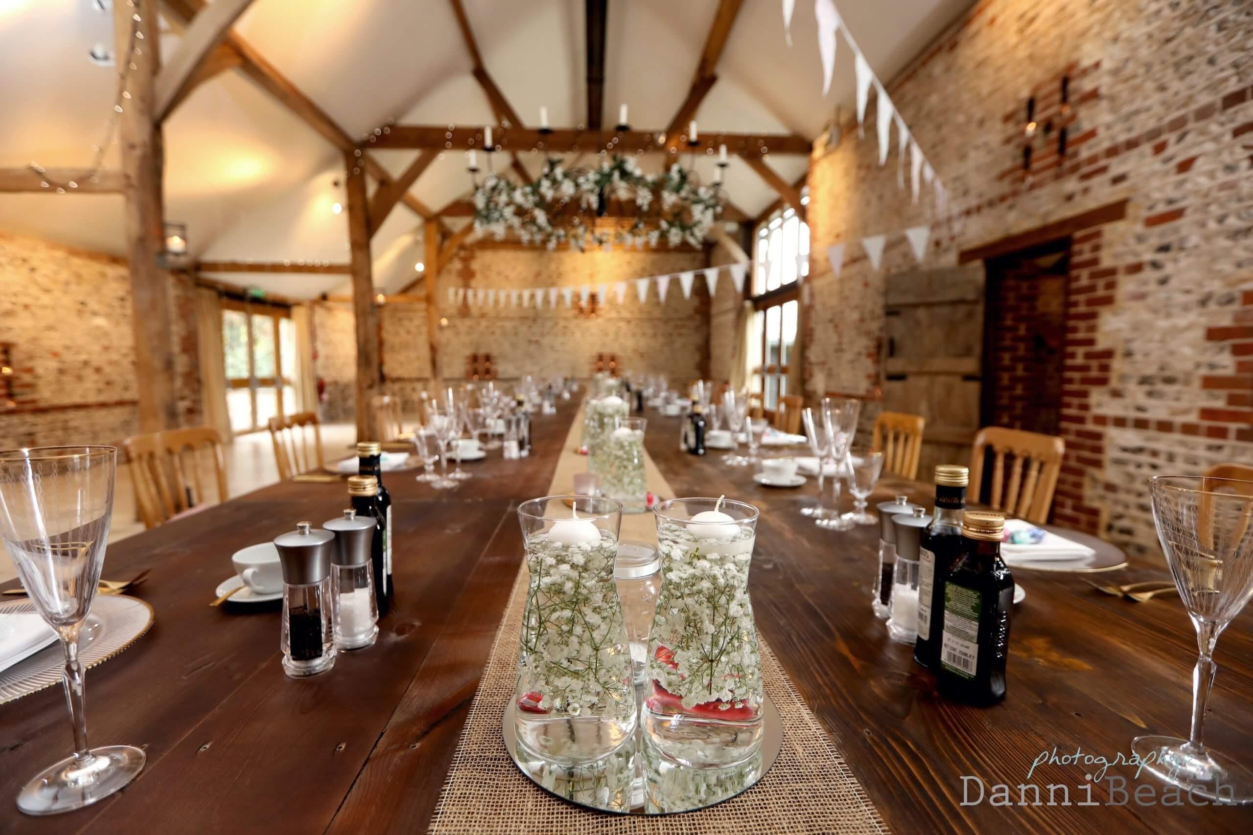 Wedding breakfast sussex barn