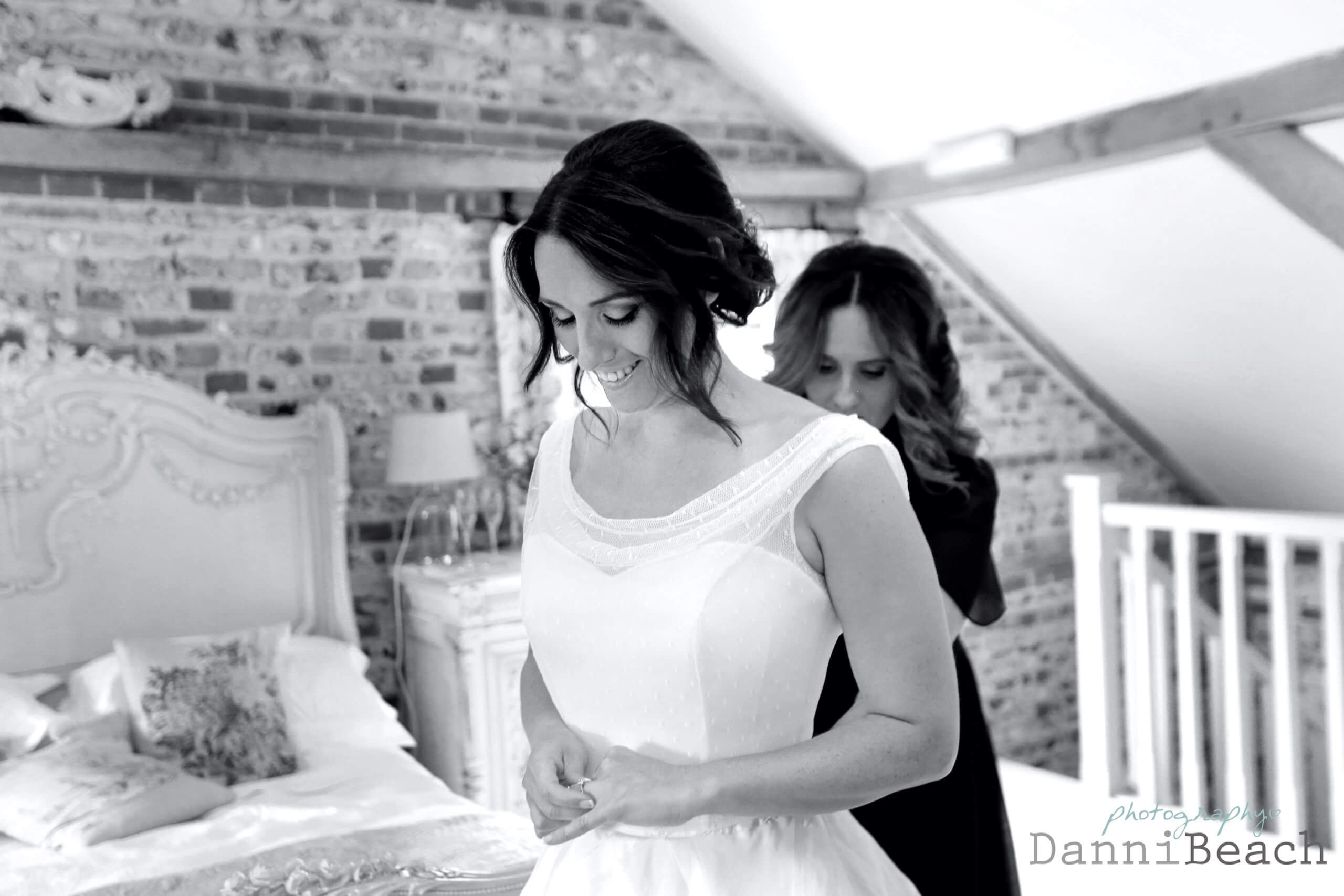 sussex barn bride
