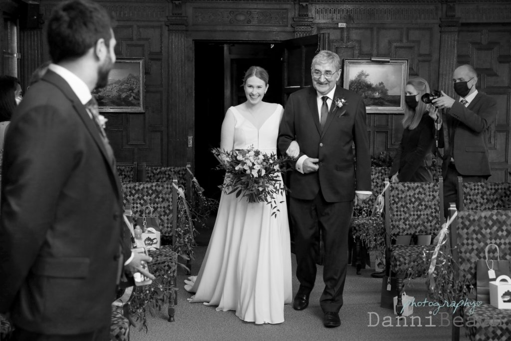 Brides entrance with Father of the bride