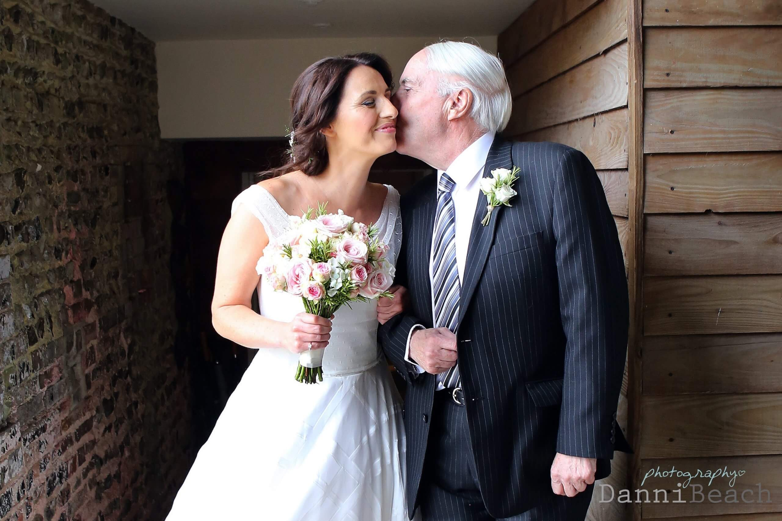 father and daughter moments sussex barn wedding