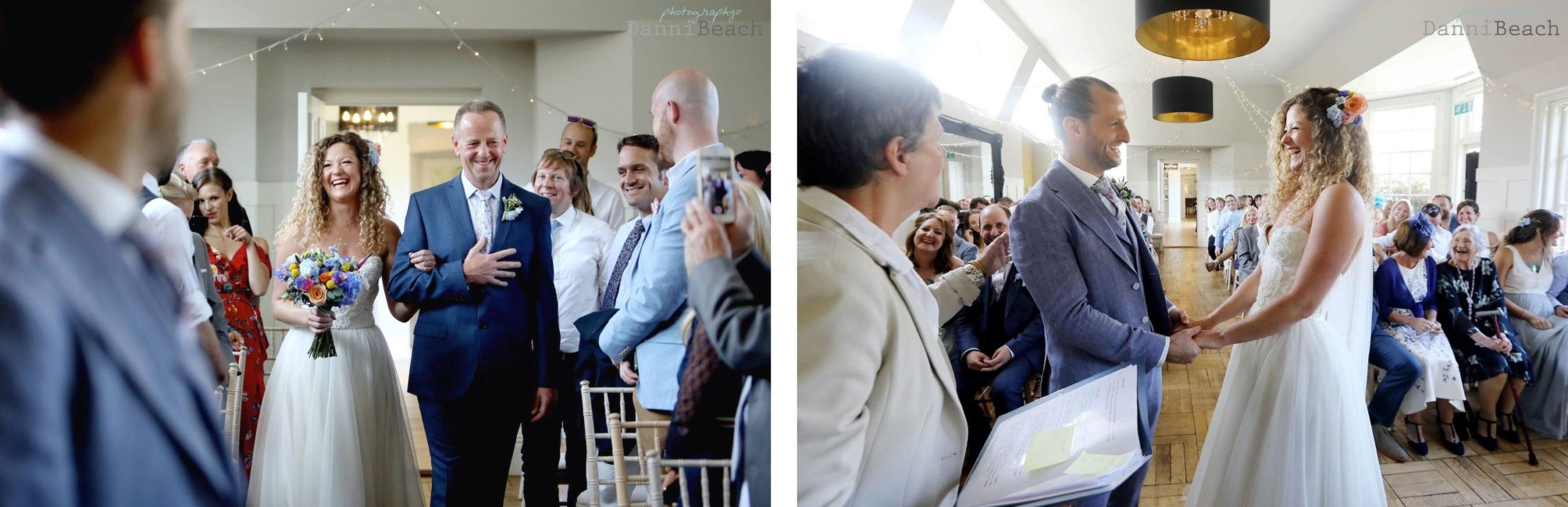 Wedding ceremony at Gildredge Manor