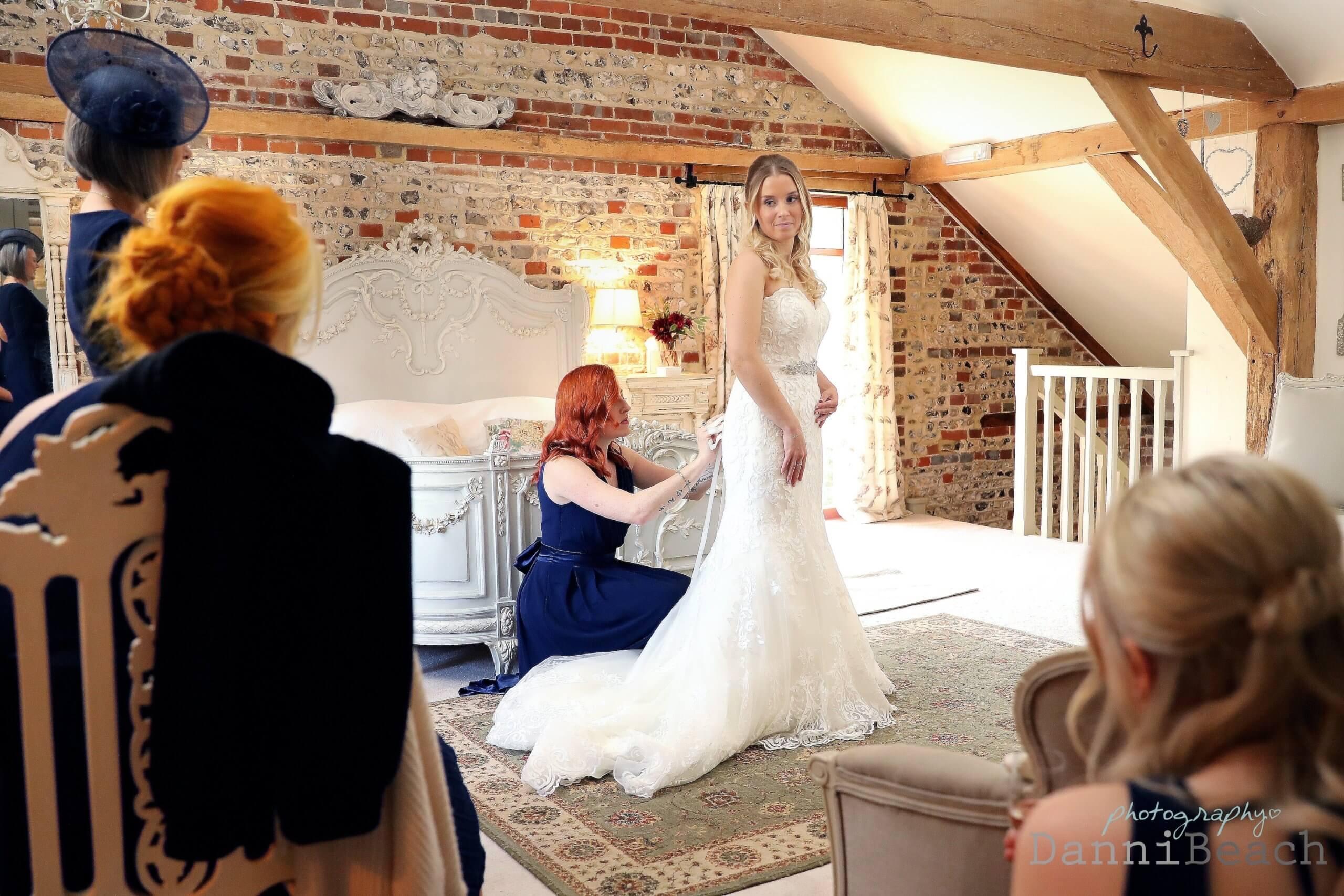 bride tribe sussex barn wedding