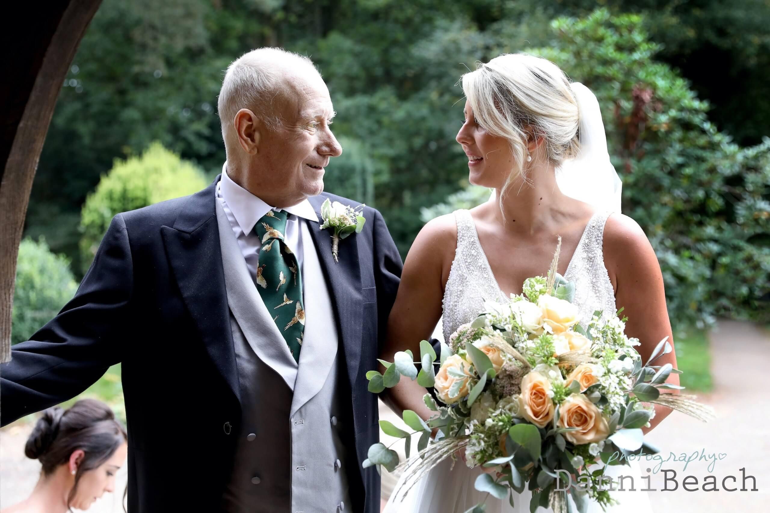 Bride and her dad Sussex wedding photographer