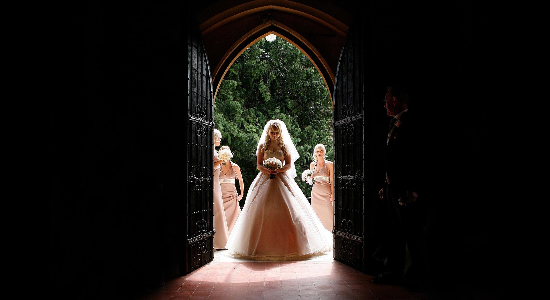 sussex wedding photographer church bride