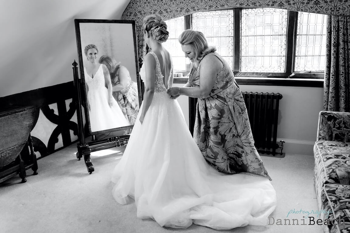 bridal prep black and white hever castle kent