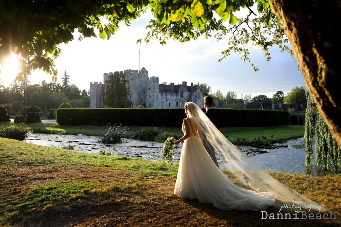 golden hour kent castle wedding
