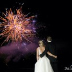 fireworks at a hever castle wedding