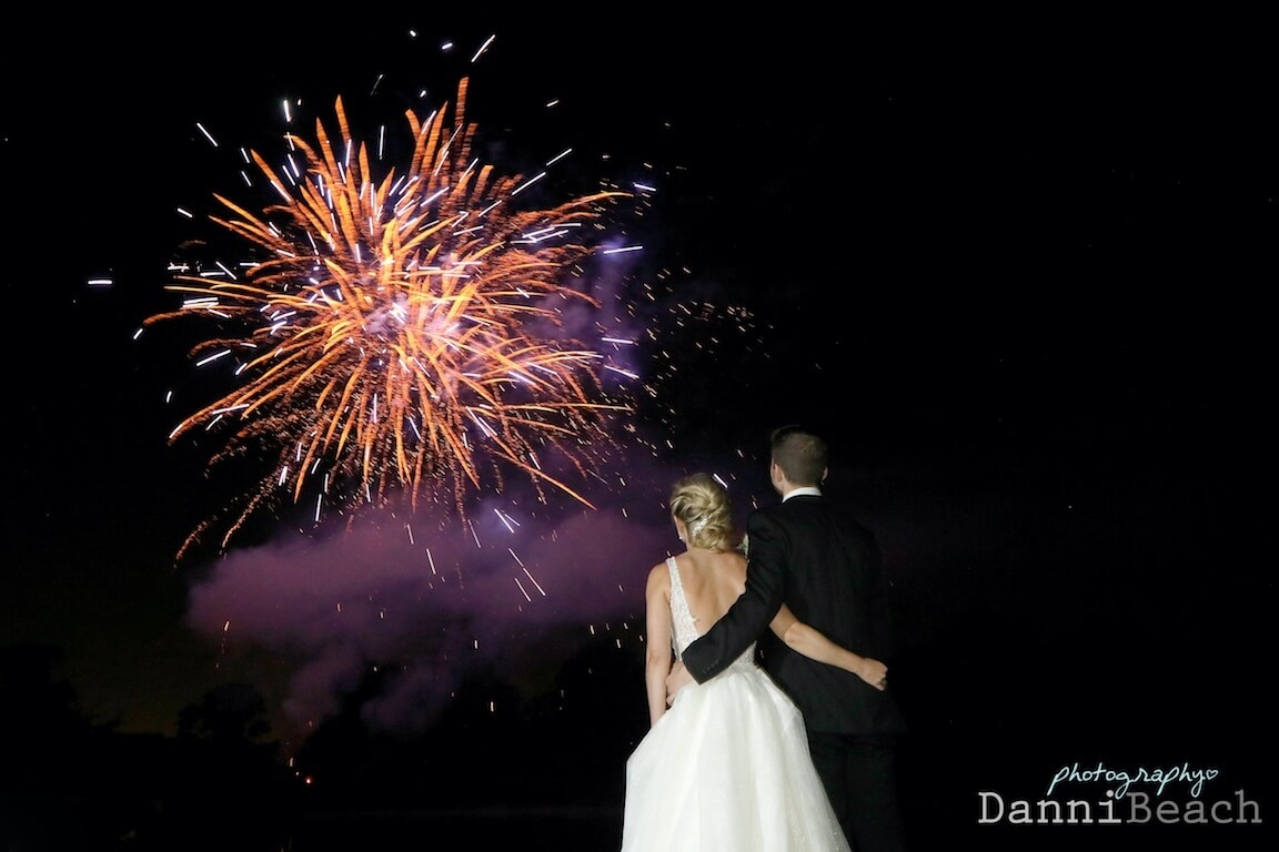 Hever castle kent wedding fireworks photograph