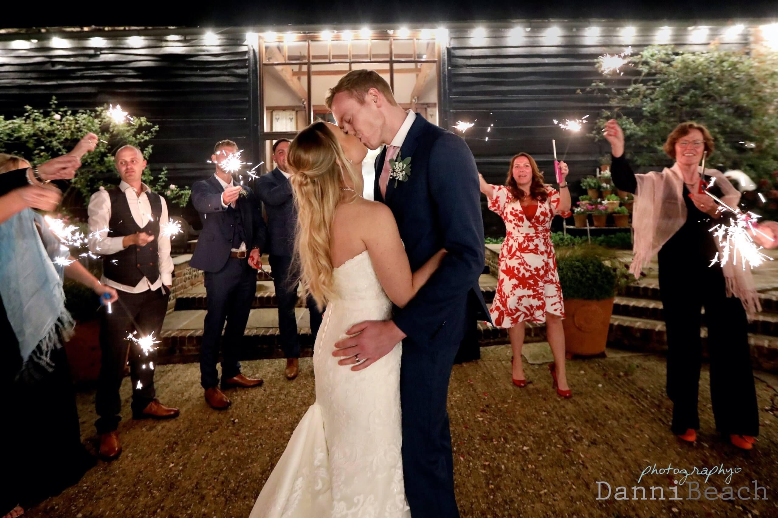 Sparkler first dance sussex wedding