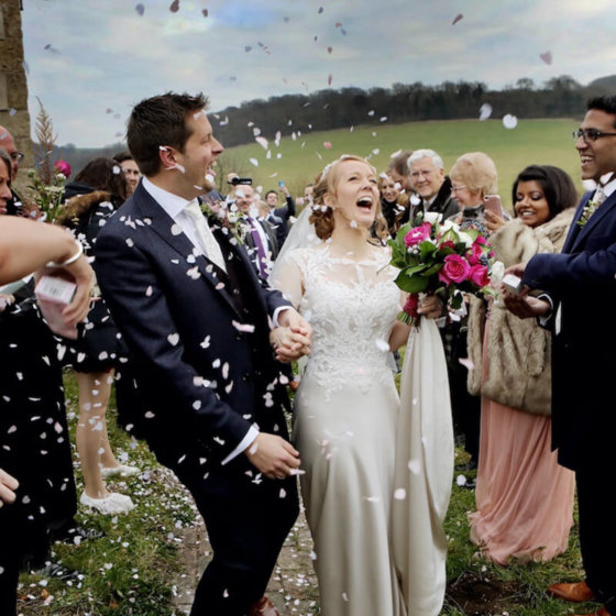 Confetti church Sussex wedding photographer