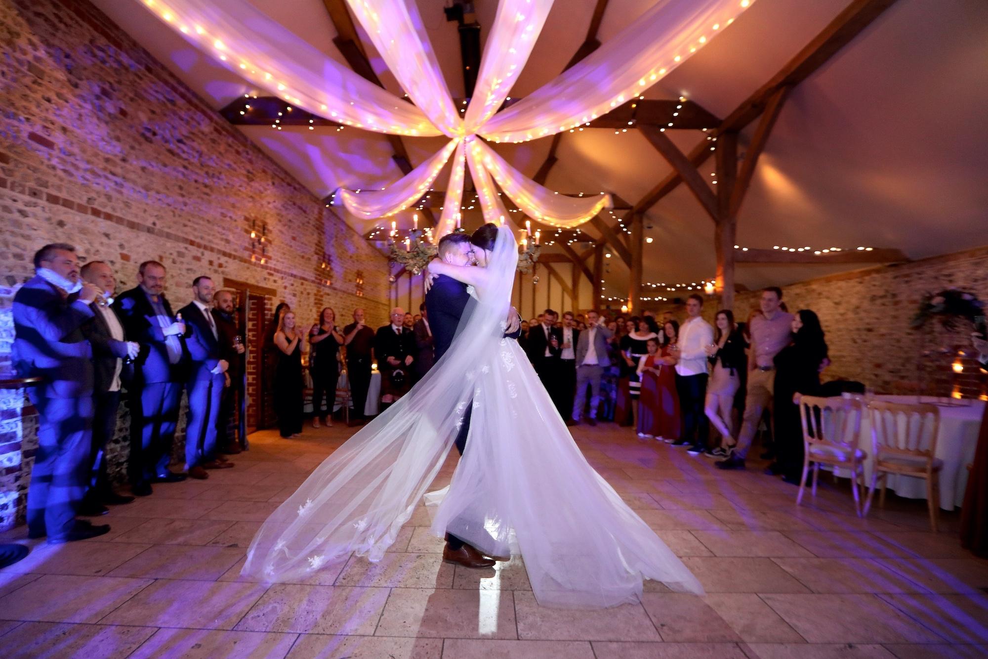 wedding photographer fist dance upwaltham barns