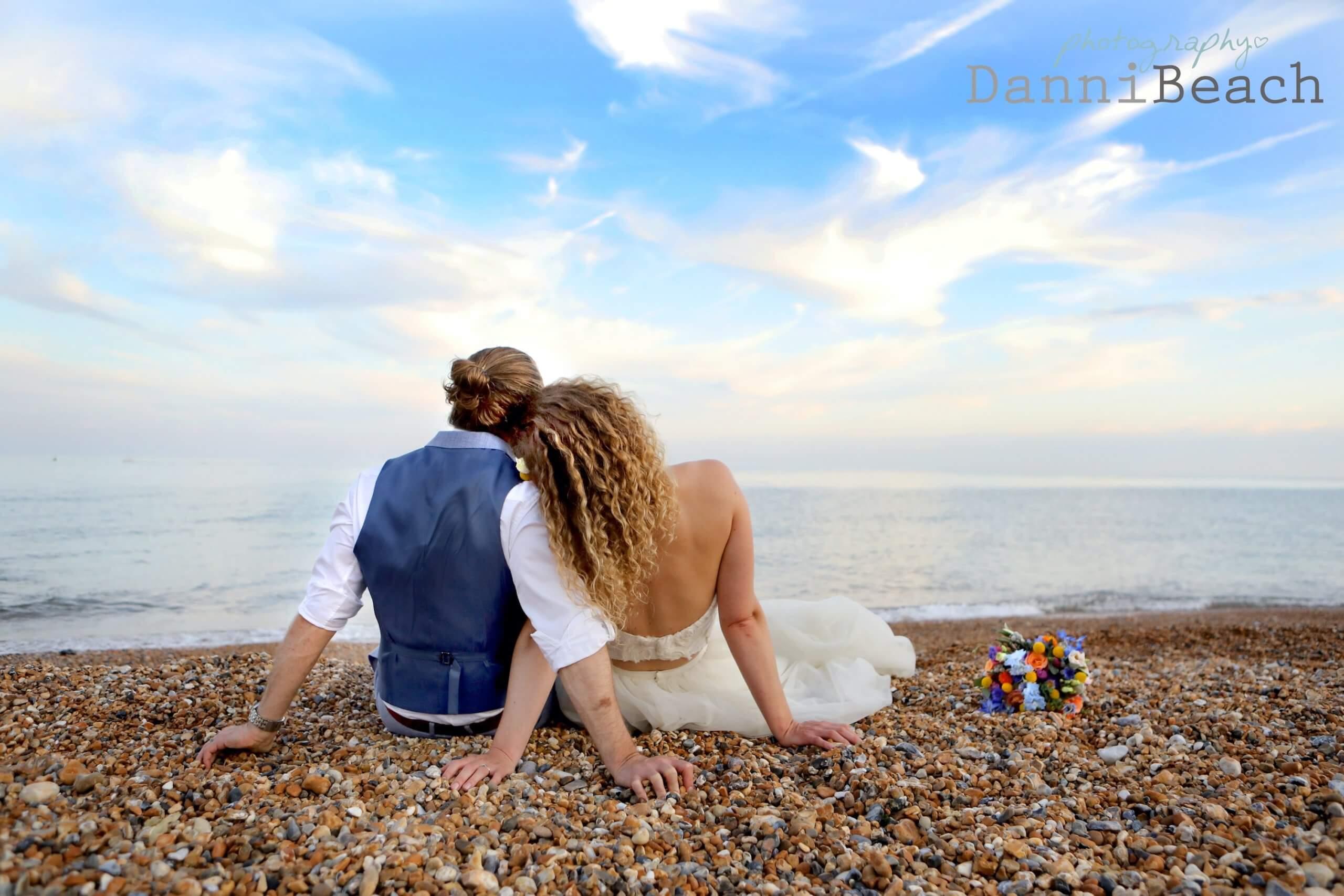 Danni Beach sussex wedding photographer