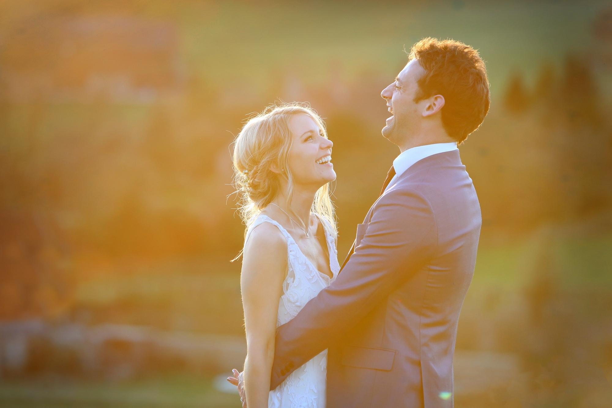 candid wedding photographer sussex golden hour
