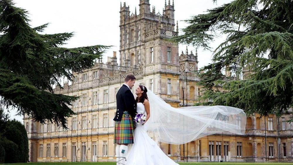 Highclere Castle wedding veil