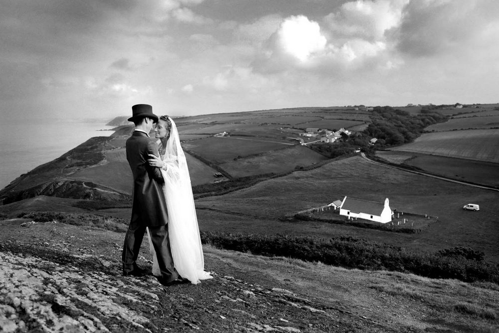 Welsh mountain wedding