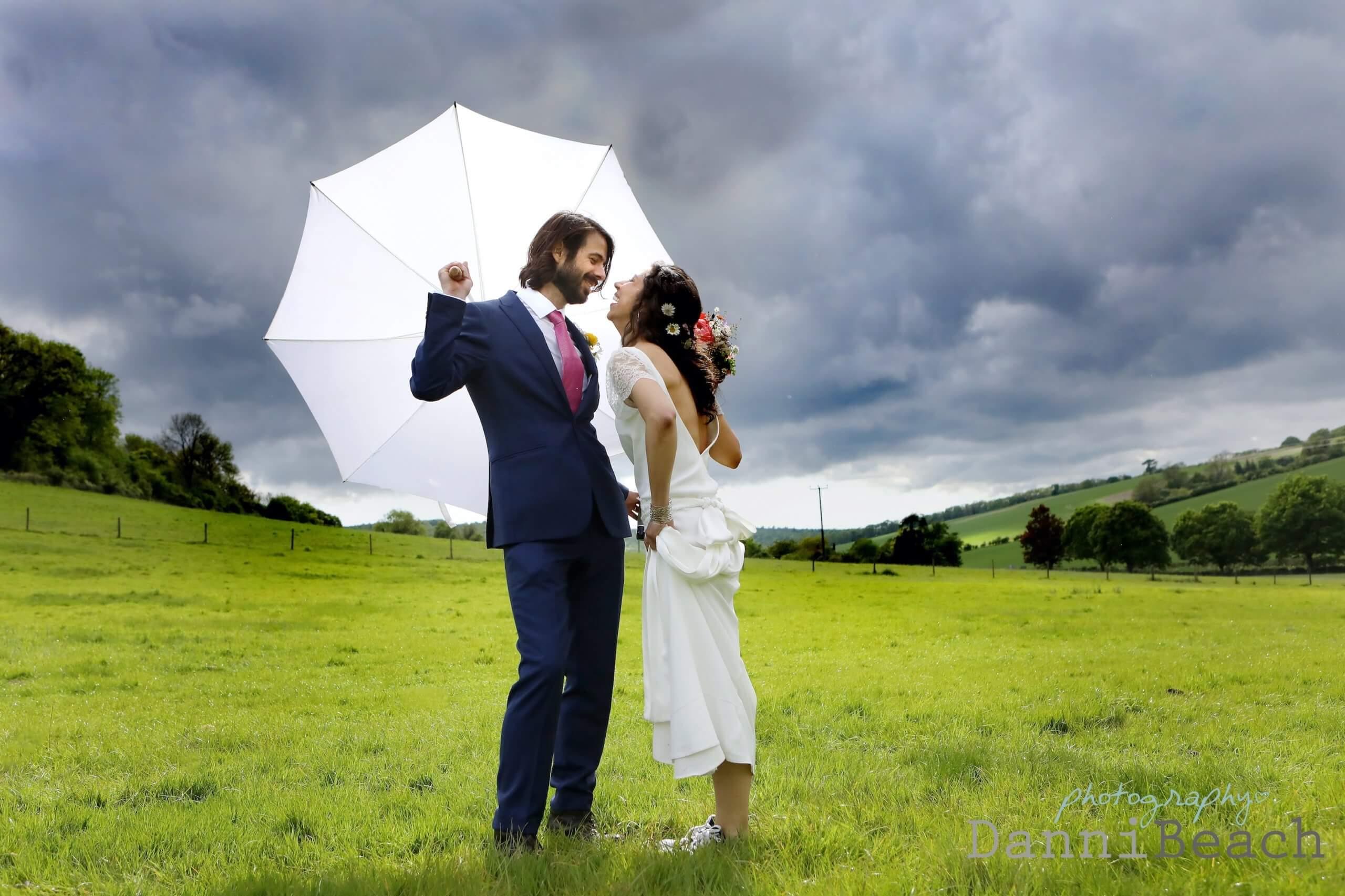 Umbrella on your wedding day