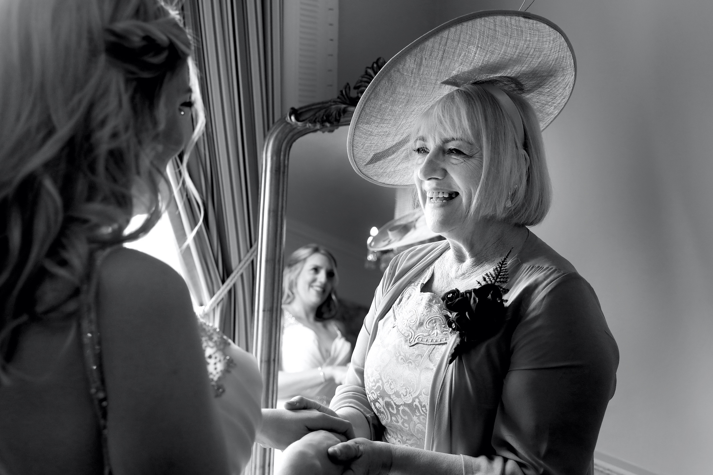Mother of the bride Buxted Park hotel candid wedding photography