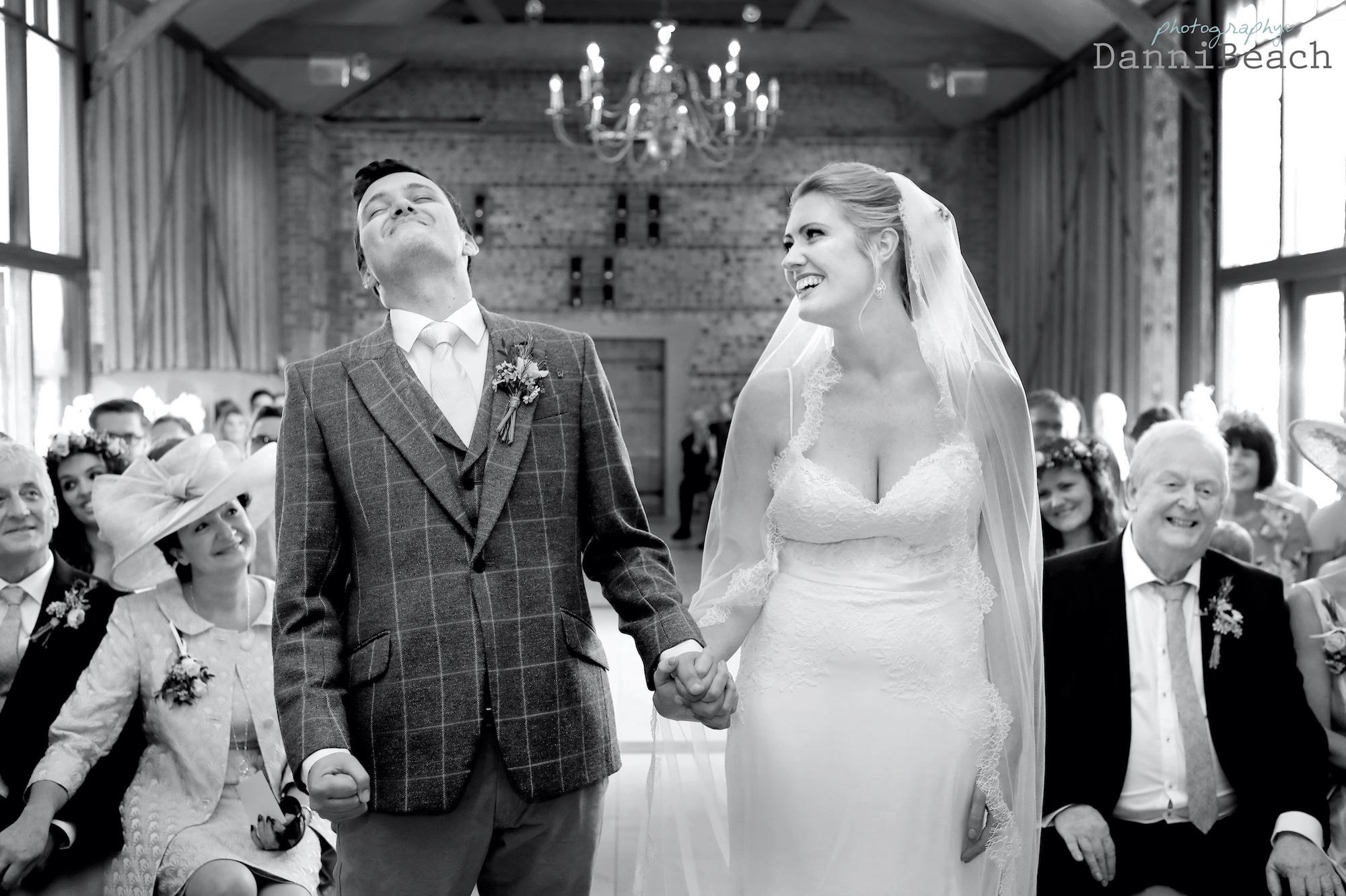 Emotional candid wedding Upwaltham Barns