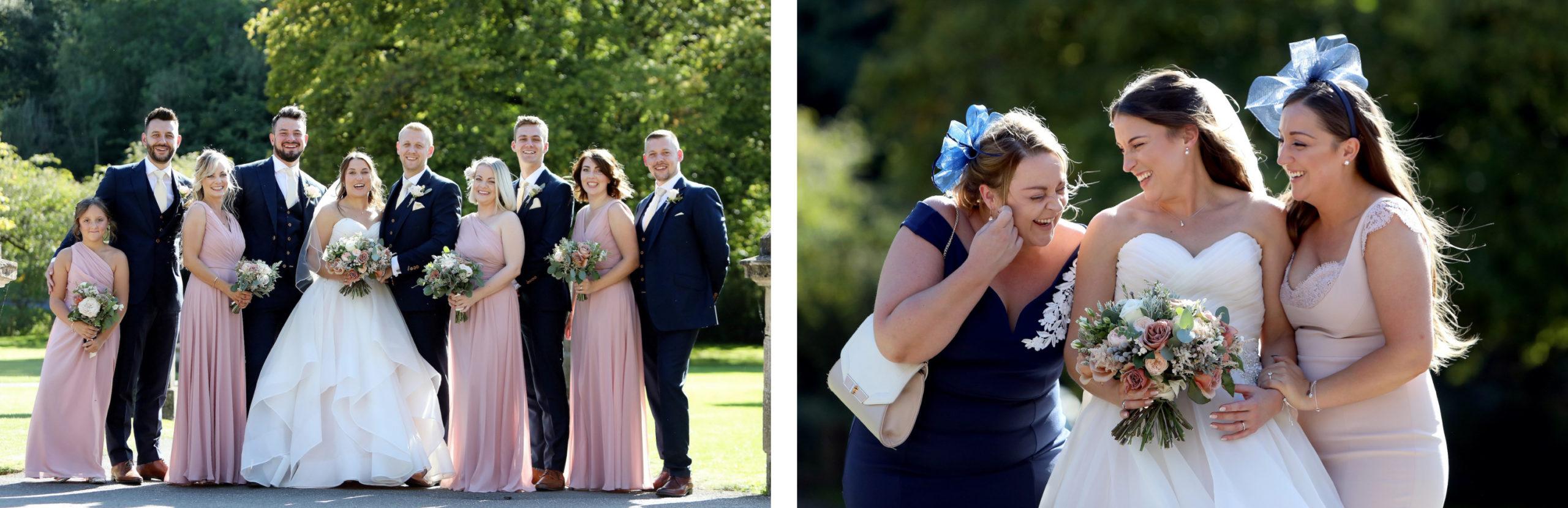 candid wedding group shots