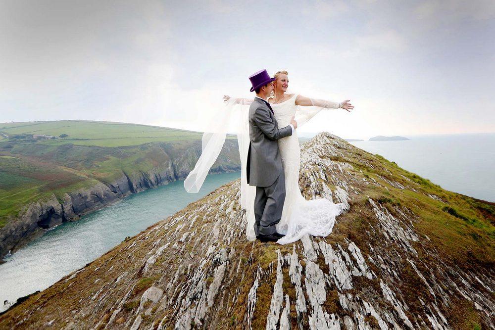 Welsh mountain wedding